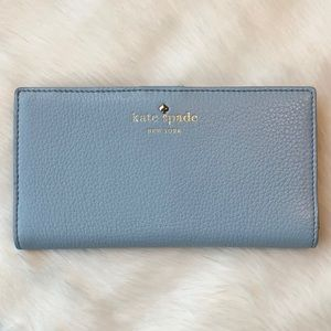 Kate Spade Cobble Hill Stacy Wallet-Wedgewood Blue